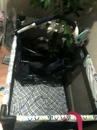 black and gray baby playpen with top  Oshawa, L1K 1E9