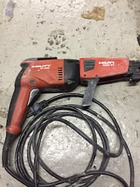 Red and black hilti power tool
