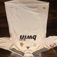 white and black Adidas Fly Emirates jersey 544 km