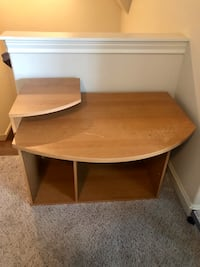 Brown wooden computer desk with hutch Houston, 77024