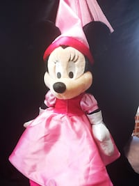 Walt Disney World Princess Minnie Mouse Plush Toy Pink 10in WDW