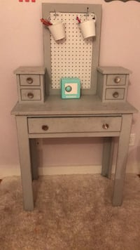 Chalk painted desk/vanity with peg board for crafts  West Sayville, 11796