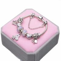 silver-colored charm bracelet with pink and gray case Stockton, 95206