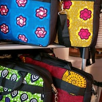 black and red floral backpack Aurora, 80017