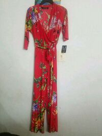 red and yellow floral long-sleeved dress Silver Spring, 20906