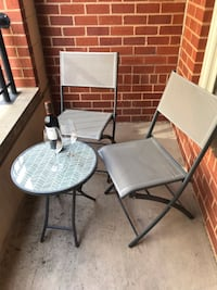 Patio table & two matching folding chairs (used once) Washington, 20004