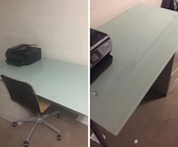 IKEA glass top desk with chair  Upperco, 21155