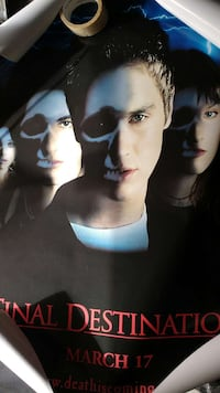 Final Destination original double-sided movie post Glen Burnie, 21060