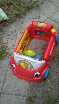 red, white, and yellow learning ride-on toy car Saint Petersburg, 33704