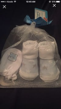 New gift set for baby socks and mittens