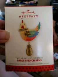 Hallmark 2013, Three French Hens Ornament Redford Charter Township, 48239