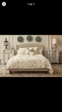 Chambery Queen Upholstered Panel Bed Washington, 20008