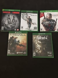 Five xbox one game cases Omaha, 68110