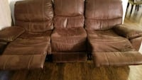 brown leather recliner sofa & chair Kent, 98030