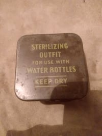 WWII STERILIZING OUTFIT FOR USE WITH WATER BOTTLES - COMPLETE