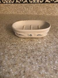 Longaberger Pottery Soap Dish.