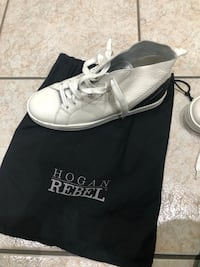 HOGAN REBEL SCARPE SNEAKERS ALTE DONNA IN PELLE NUOVE R182 MID CUT BIANCO 3AD nuove mai usate Milan