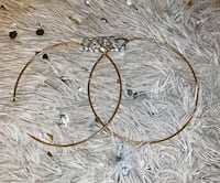 Extra Large Gold Hoop earnings