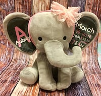 Personalized Birth Announcement Elephant