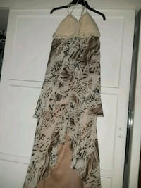 white and black floral long-sleeved dress Fontana, 92335