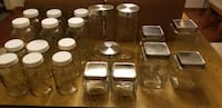 Assorted glass containers