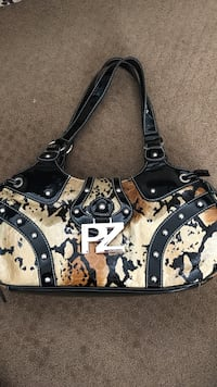 brown and black PZ purse