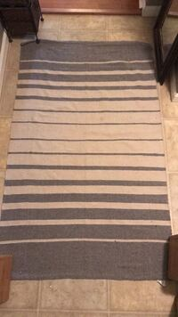 White and gray striped area rug Livingston, 70754