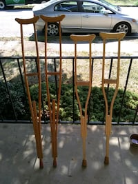 Old fashioned wooden crutches Frederick, 21701