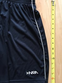 Ladies black soccer shorts by Inaria, can be unisex size, Med- $5 Mississauga, L5L 5P5