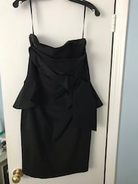 Peplum With Front Bow Detail Size 6 Little Black Dress Toronto, M9A 3V1