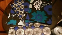 black and blue floral textile 41 km