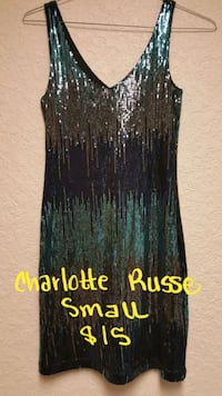 Silver, blue and teal fully sequins dress Fort Smith, 72901