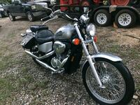 black and gray touring motorcycle Cabot, 72023