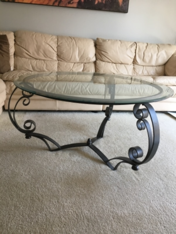 "Glass Coffee Table 38"" 3ea244be-b37f-491f-910d-8f5c67360678"