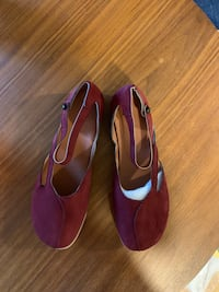 Red Leather Flats/Mary Jane Shoes Boston, 02128