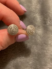 BRAND NEW sterling silver earrings with diamond accents  West Allis, 53214