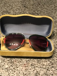 black and red framed sunglasses St. Louis, 63108