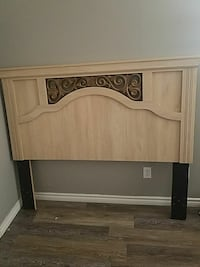 Head board with bed rails. Fits both Queen or full
