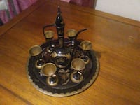 black and gray metal candle holder Prospect, 23960