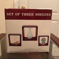 Set of three floating cube shelves  Markham