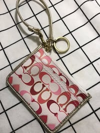 New Coach Card Holder/ Clutch/with key chain