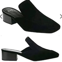 New size 7.5 marc Fisher Ltd suede mules  Toronto, M2N 7C3