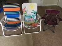2 adult and 1 kids Beach chairs in very good condition 313 mi