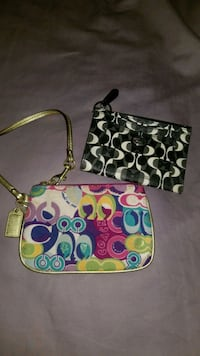 Coach wristlet and wallet