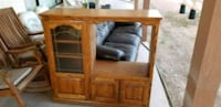 brown wooden TV hutch with cabinet Mesa, 85203