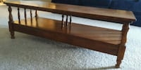 brown wooden framed glass top coffee table Dublin, 43017