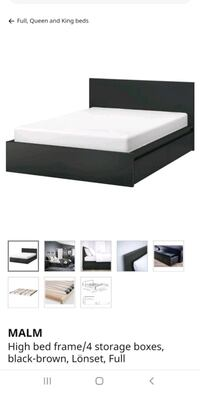 Ikea Malm full size bed frame with drawers Lorton, 22079