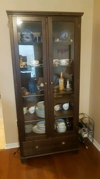 Ikea Hemnes display cabinet with drawer - brown Vaughan, L6A 1G6