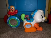 baby's white and blue Fisher Price learning walker Woodbridge, 22191