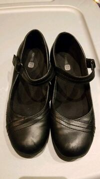Girls Size 3 Black Flats with Strap Mississauga, L5M 0B7